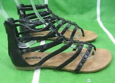 NEW Summer BLACK /STUD  Ankle Straps  Roman Gladiator Sandals Size  6