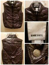 """DIESEL Puffer Vest Kids Size XL (Pit to pit 20"""") Full Zip Chocolate Brown"""
