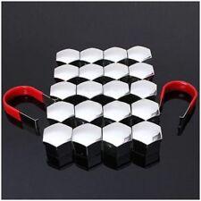 Set of 20 pcs 19mm Car plastic caps bolts covers alloy wheel chrome tool M1 B5J8