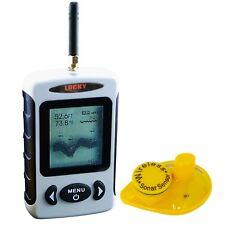 Wireless 45m Dot Matrix Portable Fish Finder Sonar Radio Sea Contour °C/°F 120m