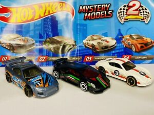 Hot Wheels Mystery Models New Series 2 Lot Of 3 Toyota Supra Lamborghini Porsche
