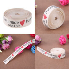 5 Yard Handmade with Love Ribbon Clothing Tape Label Tage DIY Bowknot Craft Kit