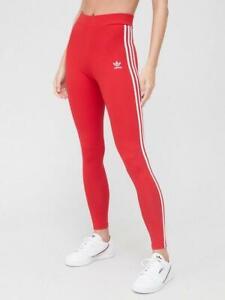 Adidas originals Women ADICOLOR CLASSICS 3-STRIPES LEGGINGS Red 14
