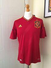 Espagne Adidas Bnwt EURO 2012 gagnants Home Shirt taille L