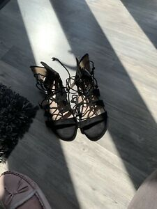 Black Ankle Sandals Size 7
