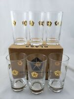 Rare Vintage Mid Century Set of 6 Chrysler Corp Beverage Ware Highball Glasses