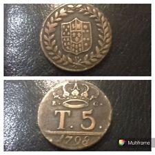 Moneta Rame 5 tornesi Regno di Napoli 1798