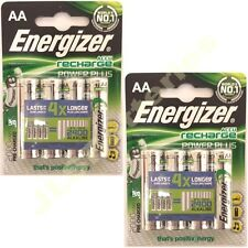 8 x AA Energizer Rechargeable 2000 mAh NI-MH Batteries 2000mAh HIGH CAPACITY