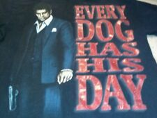 Licensed Al Pacino Scarface Every Dog Has His Day Black T-Shirt Sz 2XL XXL