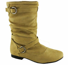 Flat (0 to 1/2 in.) Mid-Calf Pull On Shoes for Women