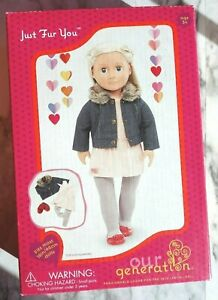 Our Generation Doll by Battat play set JUST FUR YOU Outfits Jacket Dress Shoes