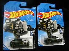 2019 Hot Wheels NEW # 105 / 250  32 FORD  BLACK Lot Of 2 4/10 Rod Squad
