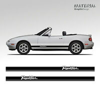 Mazda Roadster MX5 Mk1 Mk2  Side Stripes Decal Vinyl Graphic Style RX8 EUNOS