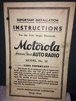 Motorola Installation Instructions For The 1936 Magic Eliminode # 50