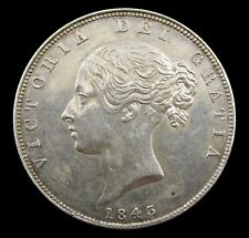 More details for victoria 1843 young head silver halfcrown - nef