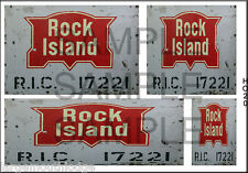 WEATHERED HO SCALE PEEL/STICK BUILDING DIORAMA LAYOUT SIGNS ROCK ISLAND RR HO20