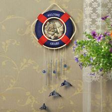 Wall Hanging Sea Nautical Coast Reddish Blue Buoy Shell Wind-bell Decoration