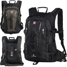 "40L SWISSWIN Men Women Waterproof Backpack Rucksack 15"" Laptop Bag Schoolbag New"