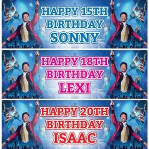 2 Personalised The Greatest Showman Birthday Party Celebration Banners Posters