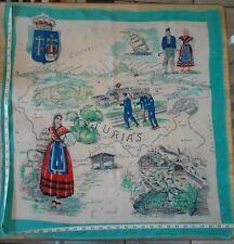 Vintage Asturias Espana National Scarf Traditional Europe Picos De Europa Spain
