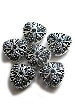 8 PCS ANTIQUE STERLING SILVER PLATED BALI BEAD 15X9MM   B 739
