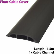 1.5m x 60mm Low Profile Rubber Floor Cable Cover Protector-Conduit Tunnel Sleeve