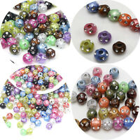 Craft DIY Colour Sparkling Silver Indented Dot Acrylic Round Ball Beads 8mm 10mm