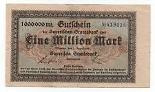 GERMANY BAYERN BAVARIA 1 MILION MARK 1923 LOOK SCANS