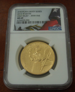 US 2015 W Gold 1 oz $100 NGC MS69 American Liberty Series - High Relief