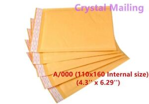 100 A/000 A000 Small White Padded, Bubble Lined Envelopes MAIL 110 x 160mm CS