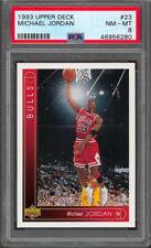 Bulls Michael Jordan 1993 Upper Deck #23 Card Graded NM-MT 8 PSA/DNA Slabbed