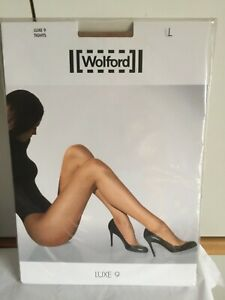 Wolford Luxe 9 Tights Large in sand BNIP perfect condition