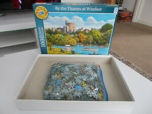 """FX Schmid 1000 Piece Jigsaw Puzzle """"By the Thames at Windsor"""" 100% complete"""