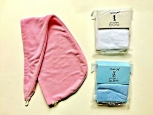 LOT of 3 pc Microfiber Hair Wrap Quick Drying Turban Towel SMALL Spa Headband