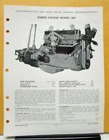 1938 White Truck Engine Model 460 Sales Brochure