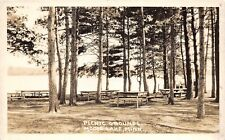 B20/ Moose Lake Minnesota Mn Real Photo RPPC Postcard c30s Picnic Grounds