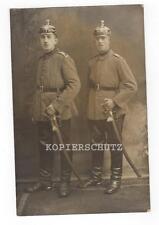 Altes Portrait Foto Garde Artillerie / Pickelhaube / Säbel  1.WK