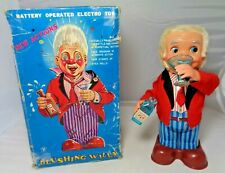 Vintage 1960's Blushing Willy Metal Electro Toy Made In Japan - Parts or Repair