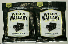 2 WILEY WALLABY Gourmet Licorice CLASSIC BLACK 5oz BB 4/21 Soft & Chewy Vegan
