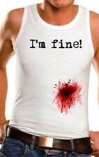 Markenlose Ärmellose Herren-T-Shirts mit Motiv