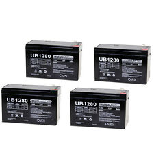 UPG 4 Pack - 12V 8Ah Razor E300S, E 300S 13116240 Electric Scooter Battery