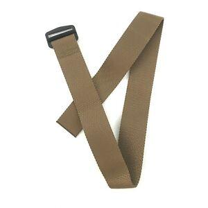Army Riggers Belt, US Military Nylon Web Waist Belt, USGI Coyote Brown, 34 Inch