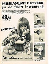 PUBLICITE ADVERTISING  1969   MOULINEX   presse agrumes