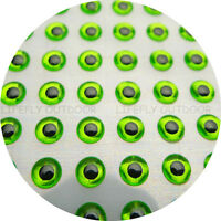 400 Soft Molded 3D Holographic Fish Eyes Fly Jig Lure Craft 10mm 3D #G02-1