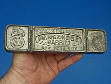 lingot de manganèse babbitt syracuse smelting works new york city - antik tools
