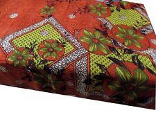 Woomenzara Indian Vintage Printed Saree Craft Fabric Print Sari 5 Yard Silk PS19