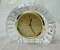 "Seiko Crystal Mantle Clock 6-1/2"" x 5"" Works Well Excellent Condition"