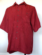GNW Great Northwest Dark Maroon Red Button-Front Poly S/S Shirt LT Large Tall