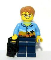 LEGO Boy Man Minifigure & Camera Photographer Holiday Maker