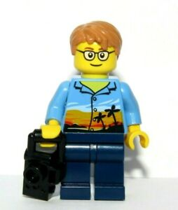 LEGO Boy Man Minifigure & Camera Photographer Holiday Maker